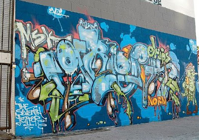 blue graffiti, wall graffiti, graffiti murals