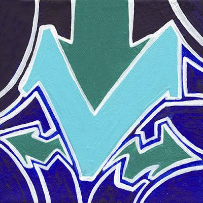 graffiti letter v, v, painting letter v