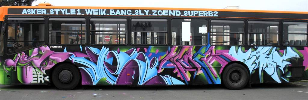 New Graffiti Design: BUS graffiti street