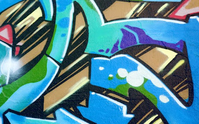 blue graffiti, graffiti art