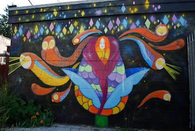 graffiti mural, wall graffiti