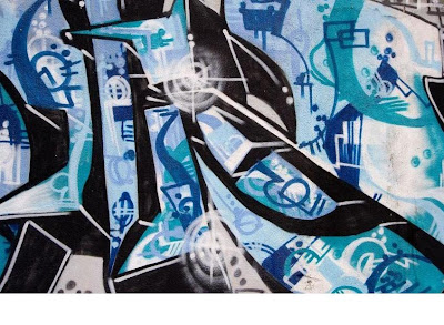blue tag graffiti