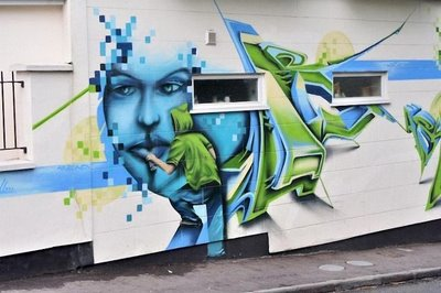 Graffiti 3d >> wall steet graffii 3d painting