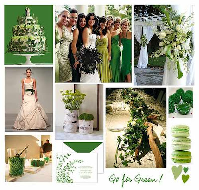 Red Gold Green Wedding Theme