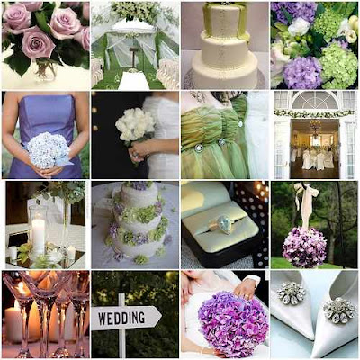 Green White Purple Wedding Inspitation Green Wedding Ideas
