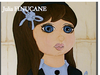 big eye claudia painting on Pink Noise art zine