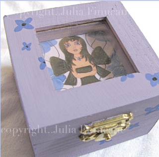 out of the pansies fairy purple trinket box