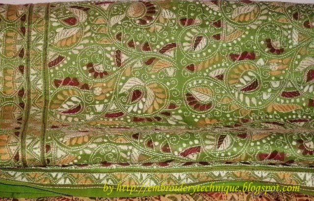 Embroidery Stitches Kantha Stich