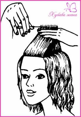 подстрижка Каскада - бретон 1 начин