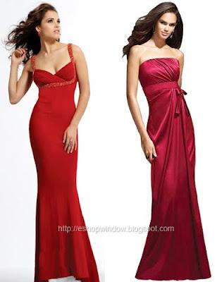 дълги червени рокли