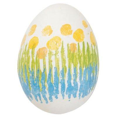 Великденски яйца на чертички