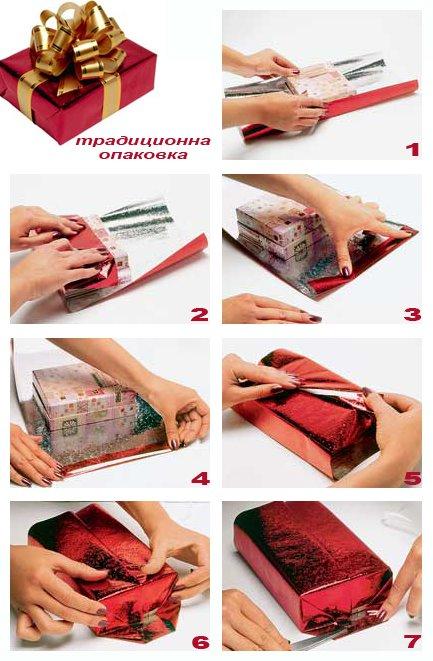Опаковане на подарък - кутия традиционен вариант
