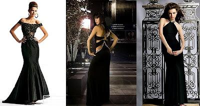 дълги черни бални рокли