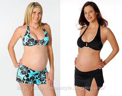 бански за бременни с долнище поличка