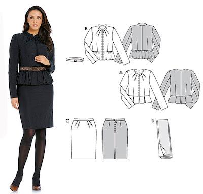 костюм сако и пола