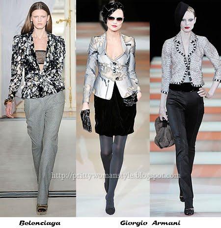 Делови костюми за по-слаба фигура - светло сако и тъмен панталон (пола)