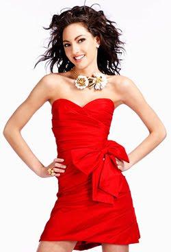 червена секси рокля