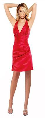 права червена рокля