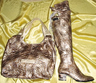 чанта и ботуши над коляното Мегияс