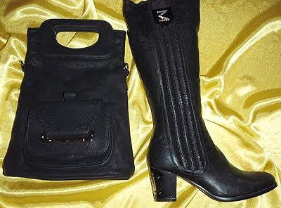 черни чанта и ботуши