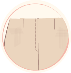 обикновен цип с два тегела на различно разстояние