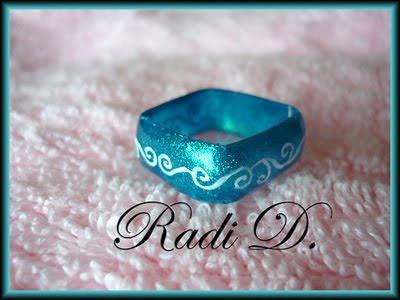 квадратен пръстен от гел