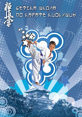 векторен плакат Каратист