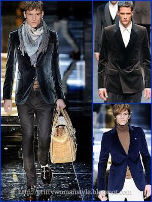 мъжки костюми от кадифе