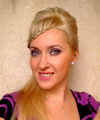 елегантна прическа със сплетен бретон и спусната коса