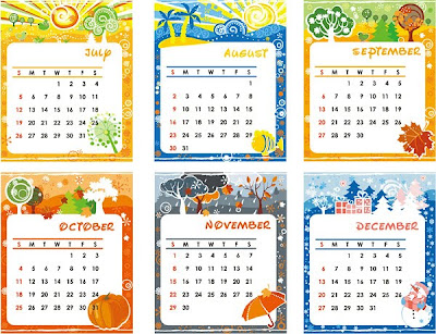 Lovely calendar template-2
