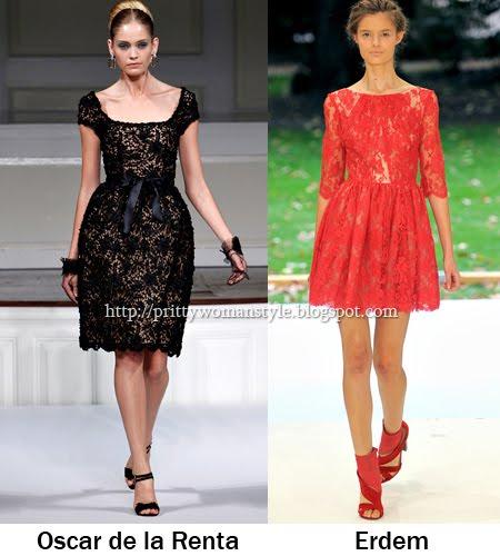 къси дантелени рокли