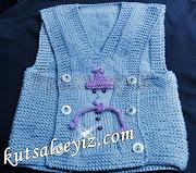 bebek yelek modelleri,süslü bebek yelek örnekleri