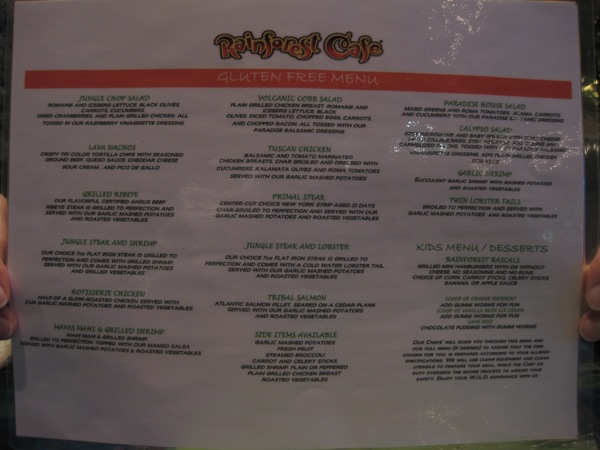 Rainforest Cafe Menu Prices Las Vegas