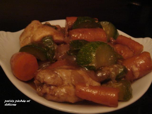 recettes plats  Mon poulet aux olives à la Marocaine