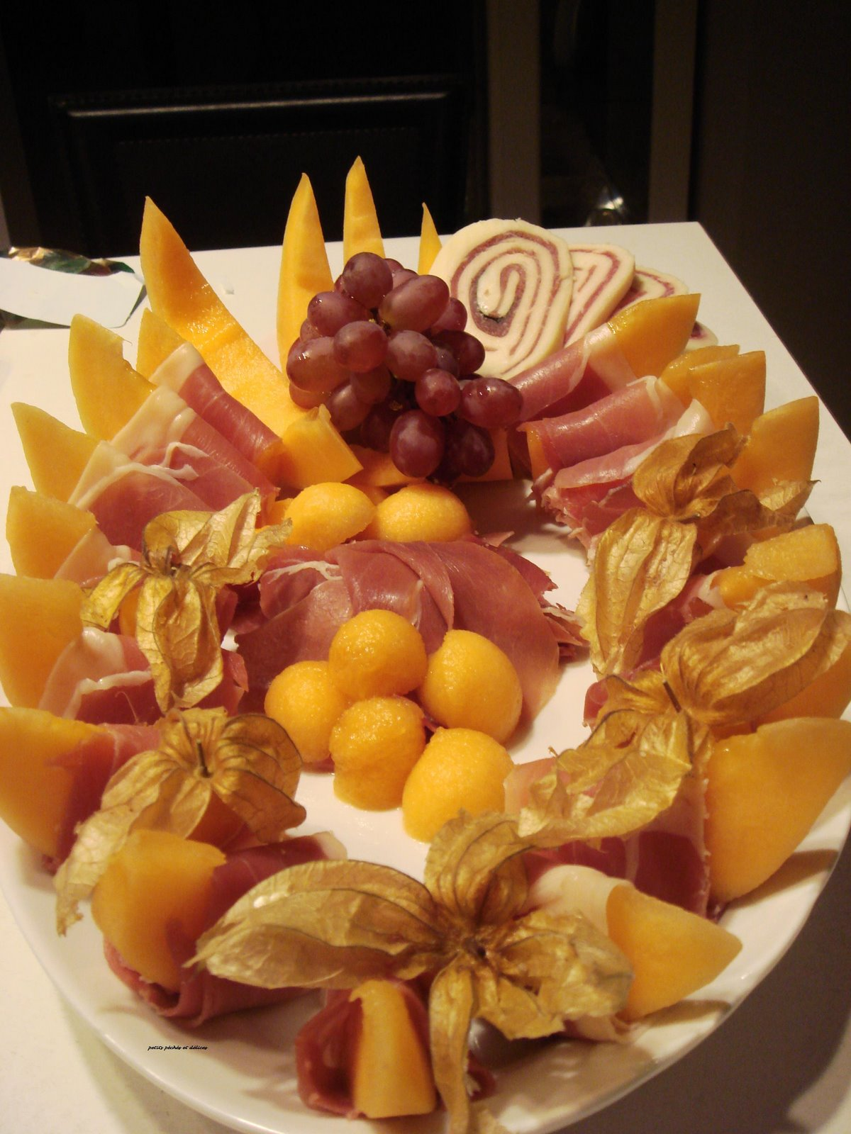 recettes entrees  Prosciutto et melons