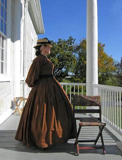 woman with hoop skirt