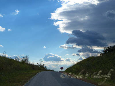 clouds and road
