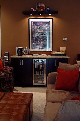 DIY Media Room Home Theater Snack Bar