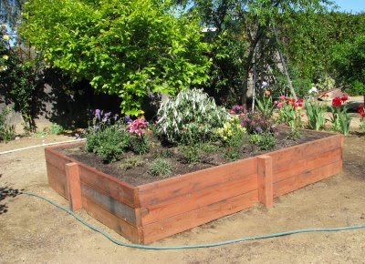 Site Blogspot  Flower Garden Design Pictures on Here Yesterday And Built The Raised Flower Bed He Worked For 5 Hours