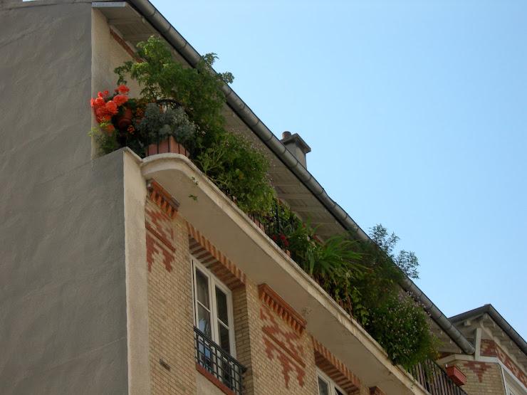 Mon balcon, Paris 19ème