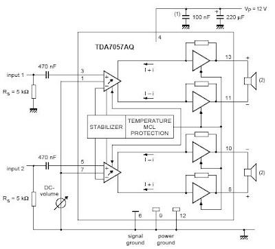 Структурная схема tda7057aq