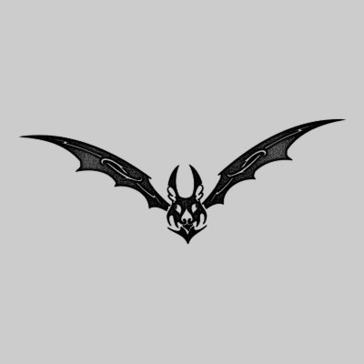 You can DOWNLOAD this Bat Tattoo Design - TATRBA02