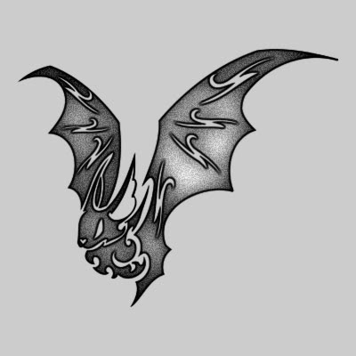 You can DOWNLOAD this Bat Tattoo Design - TATRBA16