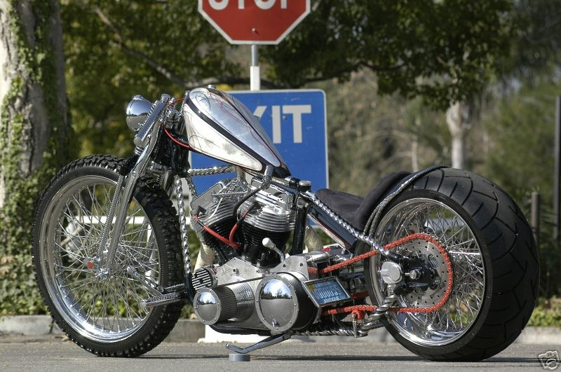 Custom Harley Panhead Choppers