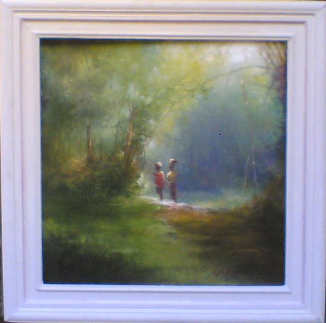 lukisan pemandangan,lukisan cat minyak,lukisan lingkungan,lukisan