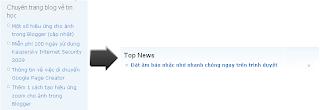 Tạo thanh đọc Feed/RSS dưới dạng Ticker (cập nhật) cho BlogSpot