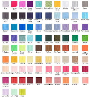Here Is An Example Of Some Basic Colors Ribbon Please Choose A Color Or Combination That You Would Like This Will Give Me Idea What