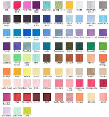 Love Bug Handcrafts: Basic Color Chart