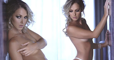 La actriz y conductora de tv mexicana Cecilia Ponce, se muestra muy sexy y casi desnuda en una producción de fotos para la revista Hombre en el 2010.
