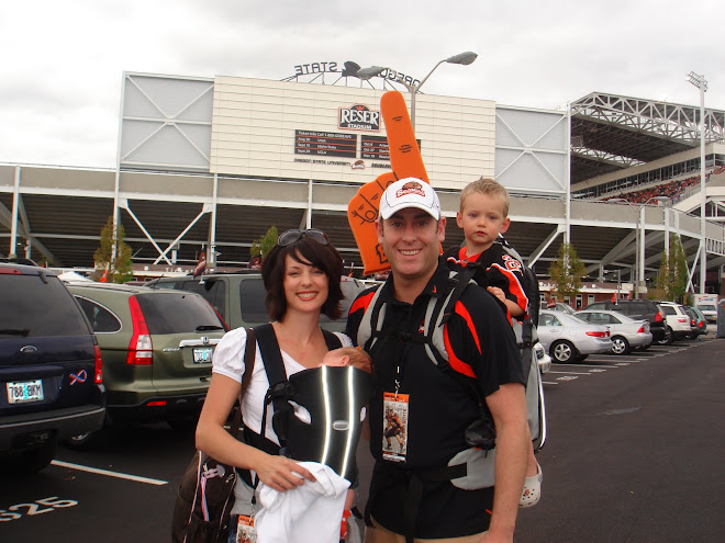 Ethan and Reese's First Beaver Game